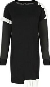 Czarna sukienka Mytwin Twinset z wełny z okrągłym dekoltem