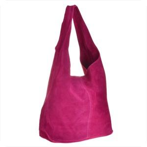 Różowa torebka Real Leather w wakacyjnym stylu ze skóry