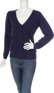 Granatowy sweter William De Faye w stylu casual