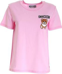 Różowy t-shirt Moschino w młodzieżowym stylu