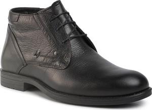 Czarne buty zimowe Quazi sznurowane