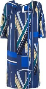 Niebieska sukienka Vitovergelis midi z okrągłym dekoltem w stylu casual