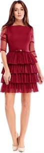 Sukienka Ptakmoda.com mini z tiulu z długim rękawem
