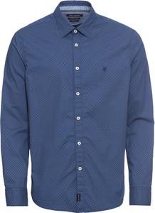 Niebieska koszula Marc O'Polo z klasycznym kołnierzykiem z bawełny z długim rękawem