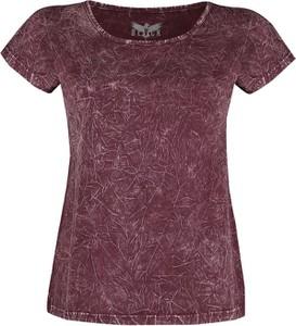 Fioletowy t-shirt Emp z okrągłym dekoltem