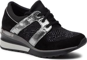 Sneakersy Quazi w sportowym stylu sznurowane z zamszu