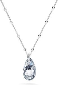 GIORRE ZŁOCONY NASZYJNIK Z KRYSZTAŁEM SWAROVSKIEGO MIGDAŁ : Kolor kryształu SWAROVSKI - Crystal CAL, Kolor pokrycia srebra - Pokrycie Jasnym Rodem