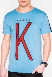 T-shirt Edoti z krótkim rękawem z nadrukiem