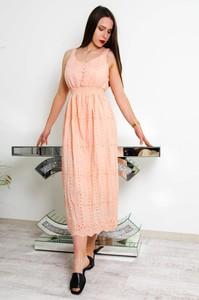 Różowa sukienka Olika bez rękawów