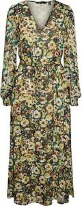 Sukienka Vero Moda maxi z dekoltem w kształcie litery v