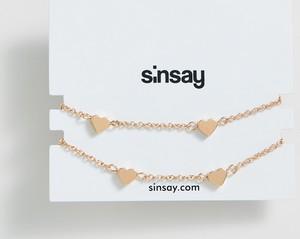 Sinsay - Bransoletka z serduszkami - Beżowy