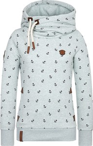 Miętowa bluza Naketano w sportowym stylu z dresówki