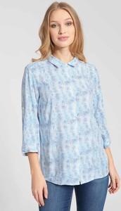 Niebieska koszula QUIOSQUE z długim rękawem