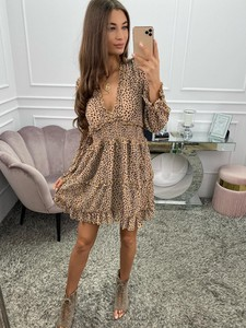 Brązowa sukienka Promese