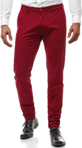 Czerwone spodnie Ozonee.pl w stylu casual