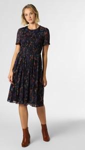 Granatowa sukienka Tommy Hilfiger prosta z okrągłym dekoltem