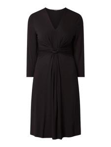 Czarna sukienka Opus z długim rękawem mini z dekoltem w kształcie litery v