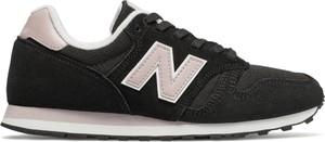 Czarne buty sportowe New Balance na koturnie 373 z zamszu