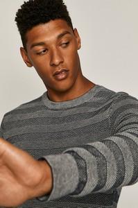 Granatowy sweter Medicine w stylu casual z dzianiny