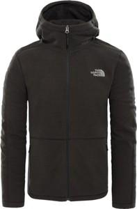 Czarna kurtka The North Face w rockowym stylu