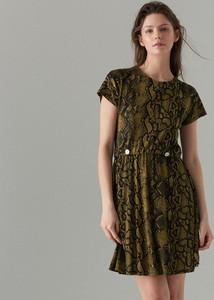 Zielona sukienka Mohito mini z krótkim rękawem
