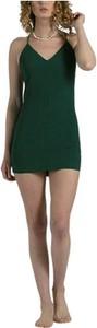 Zielona sukienka Karma Koma mini z dekoltem w kształcie litery v