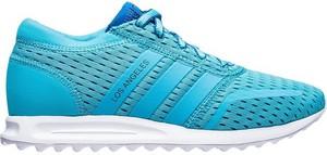 Turkusowe buty sportowe Adidas Originals sznurowane
