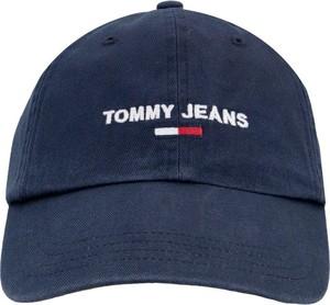 Niebieska czapka Tommy Hilfiger z nadrukiem