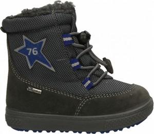Czarne buty dziecięce zimowe Primigi ze skóry