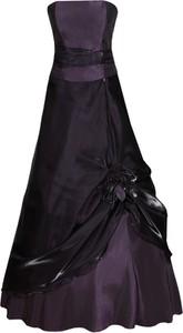 Fioletowa sukienka Fokus bez rękawów z tiulu
