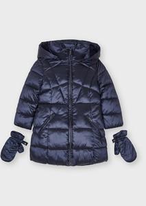 Granatowa kurtka dziecięca Mayoral dla dziewczynek