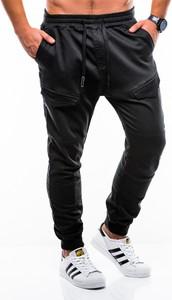 Granatowe spodnie Edoti w sportowym stylu
