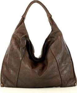 Brązowa torebka Marco Mazzini Handmade na ramię w stylu boho średnia