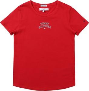 Bluzka dziecięca Tommy Hilfiger z tkaniny z krótkim rękawem