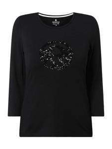 Czarna bluzka Sportalm z długim rękawem w stylu casual z bawełny