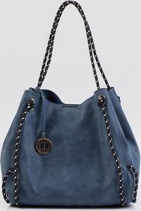 Niebieska torebka Monnari ze skóry ekologicznej na ramię w wakacyjnym stylu