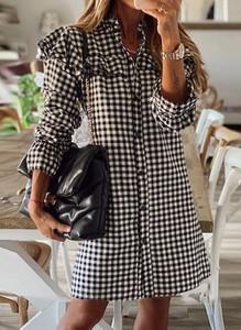 Sukienka Cikelly mini z długim rękawem