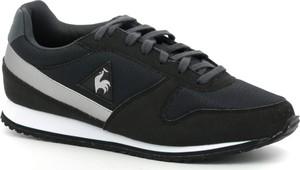 Granatowe buty sportowe Le Coq Sportif w sportowym stylu sznurowane