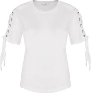 T-shirt Guess Jeans w stylu casual z krótkim rękawem