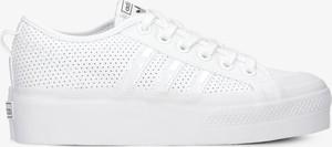 Buty sportowe Adidas na platformie ze skóry