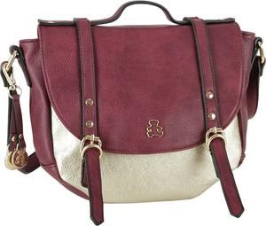 Czerwona torebka Lulucastagnette średnia z breloczkiem na ramię