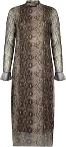 Brązowa sukienka Tramontana maxi