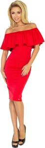 Sukienka Moda Dla Ciebie z krótkim rękawem midi