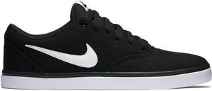 Buty SB Check Solar Canvas Nike (czarno-białe)