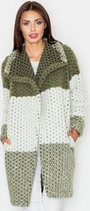 Zielony płaszcz Figl w stylu casual