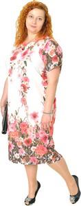 Sukienka Sklepfilloo z krótkim rękawem z okrągłym dekoltem
