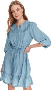 Sukienka Top Secret z kołnierzykiem mini koszulowa