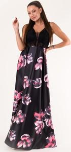 Sukienka Eva&Lola maxi z dekoltem w kształcie litery v