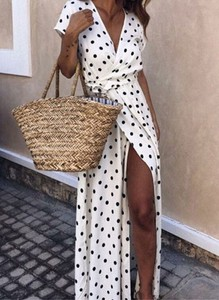 Sukienka Sandbella w stylu casual maxi kopertowa