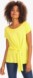 Żółty t-shirt YESSICA z okrągłym dekoltem